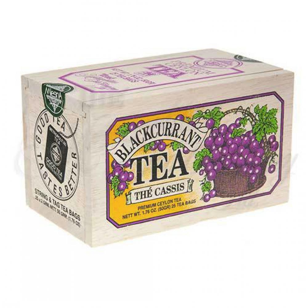25 Tea Bags Wooden Box Black Currant