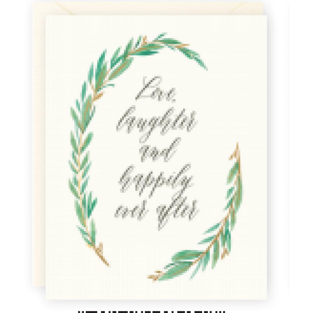 Wedding - Love Laughter Wreath