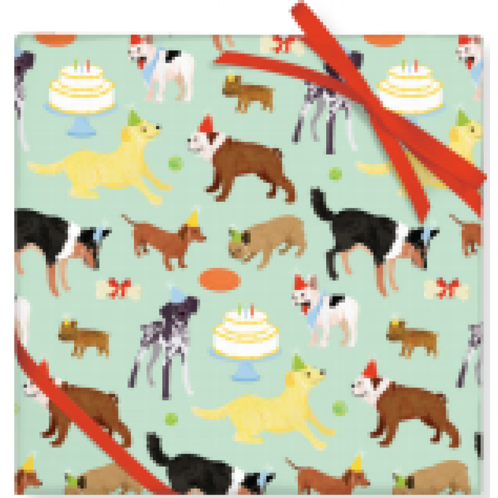 Gift Wrap - Birthday Dogs