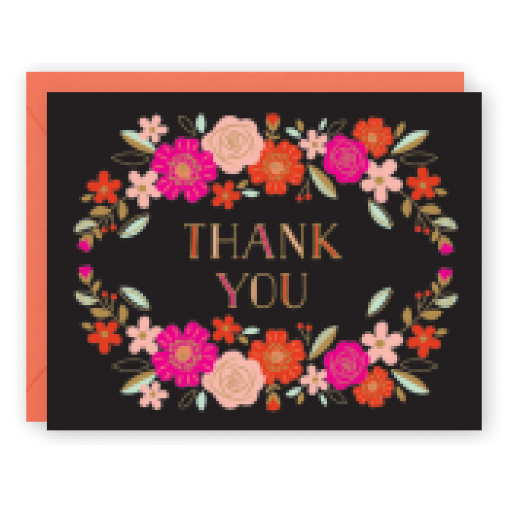 Thank You - Floral Wreath