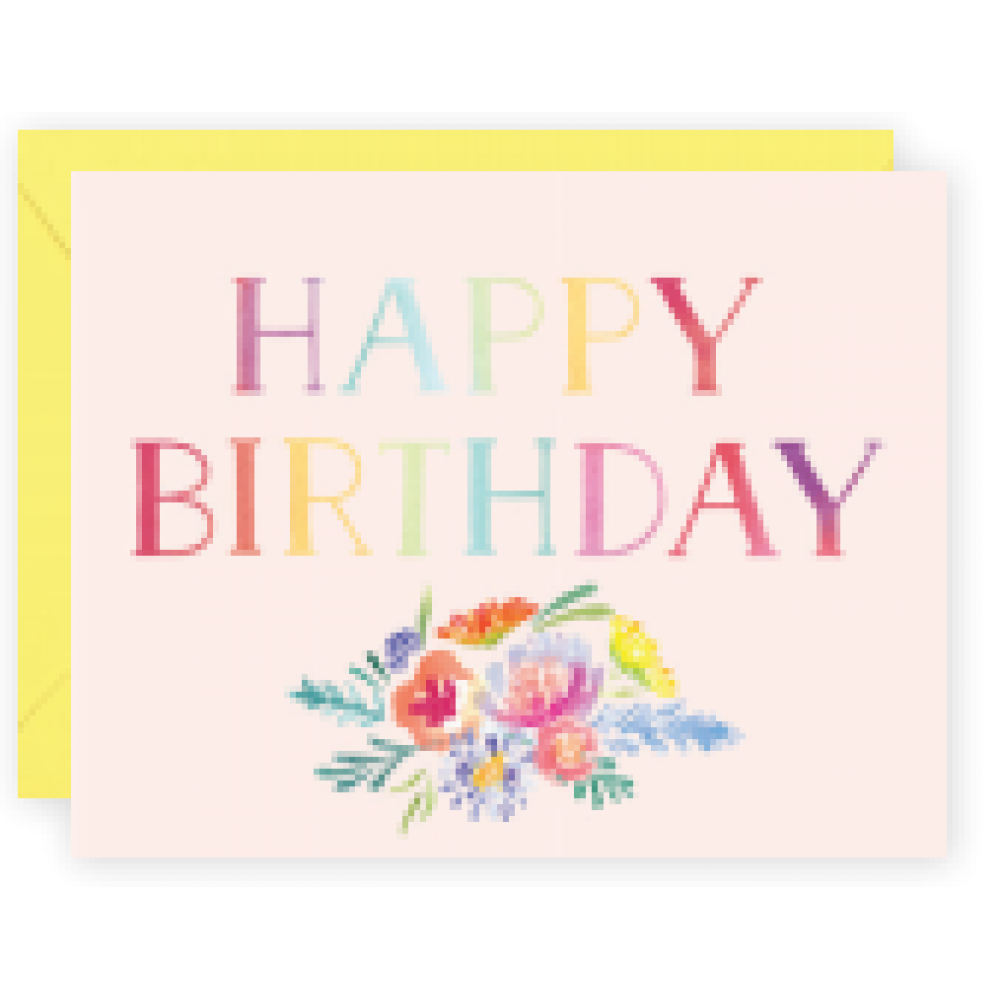 Birthday - Multicolor Letters