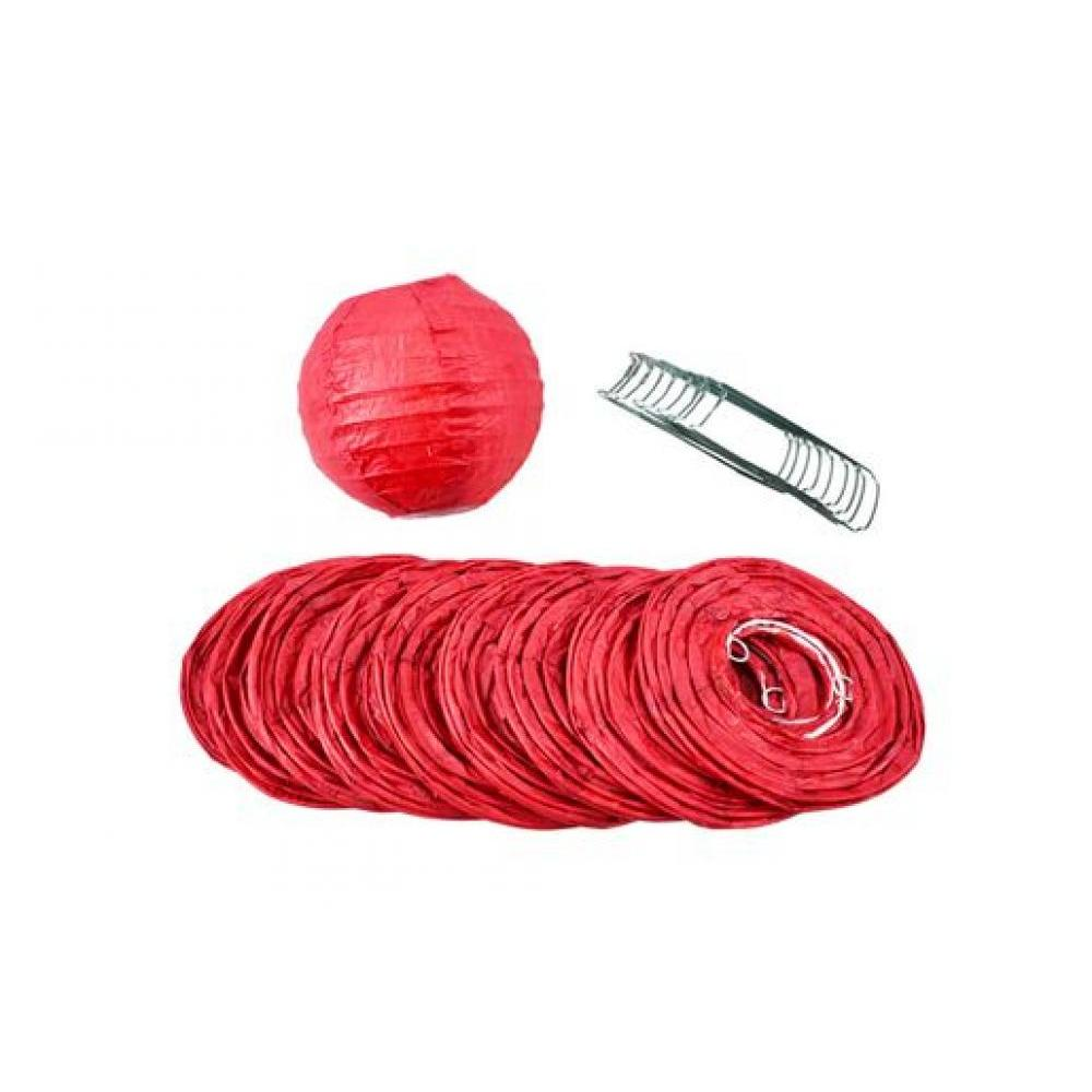 Lanterns Paper for String Lights 4in Round Set of 10 Red