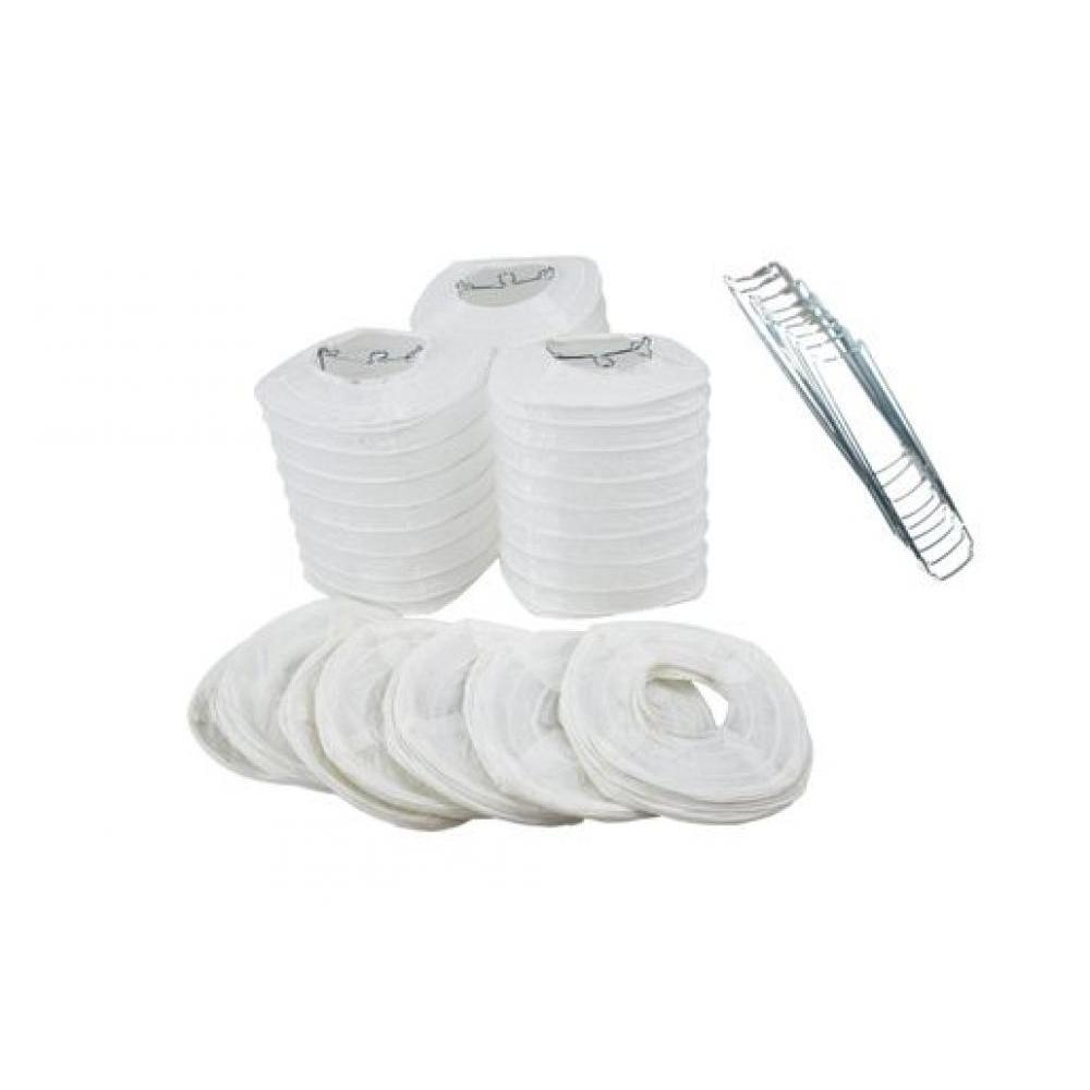 Lanterns Paper for String Lights 4in Hako Set of 10 White
