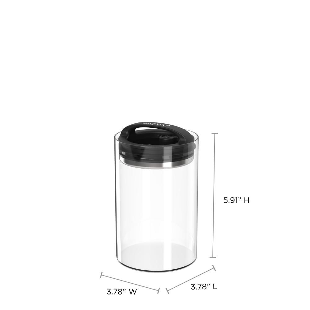 Evak Compact Glass Body Medium 3 cups Black