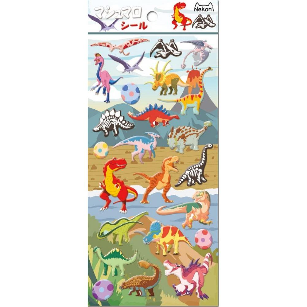 Stickers Nekoni Dinosaurs Puffy