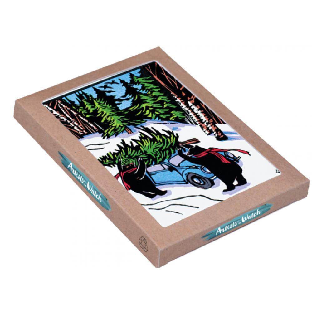Holiday Boxed Card - Black Bears