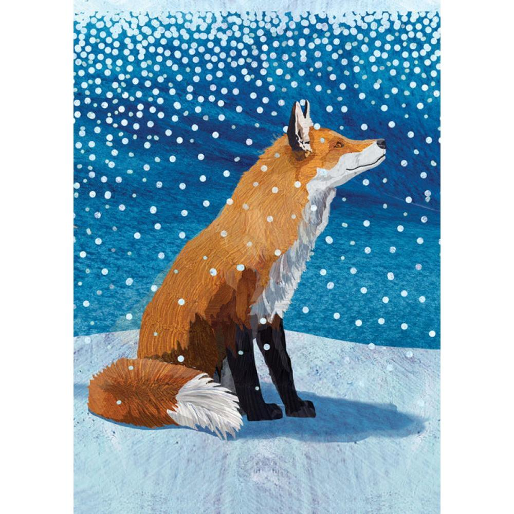 Boxed Holiday Card - Fox Moment