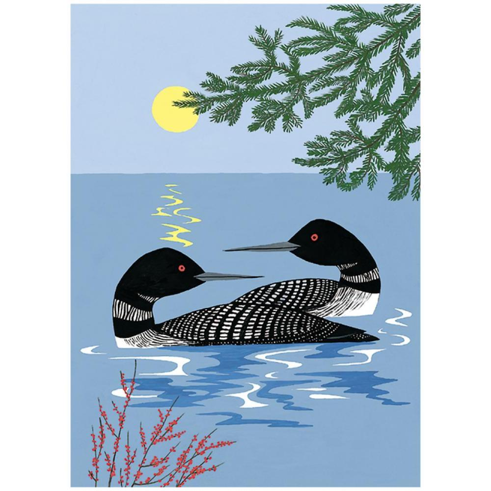 Boxed Holiday Cards- Evening Loons