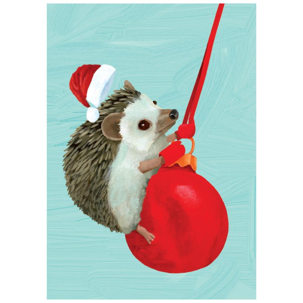 Boxed Holiday Cards - Swingin\' Hedgehog