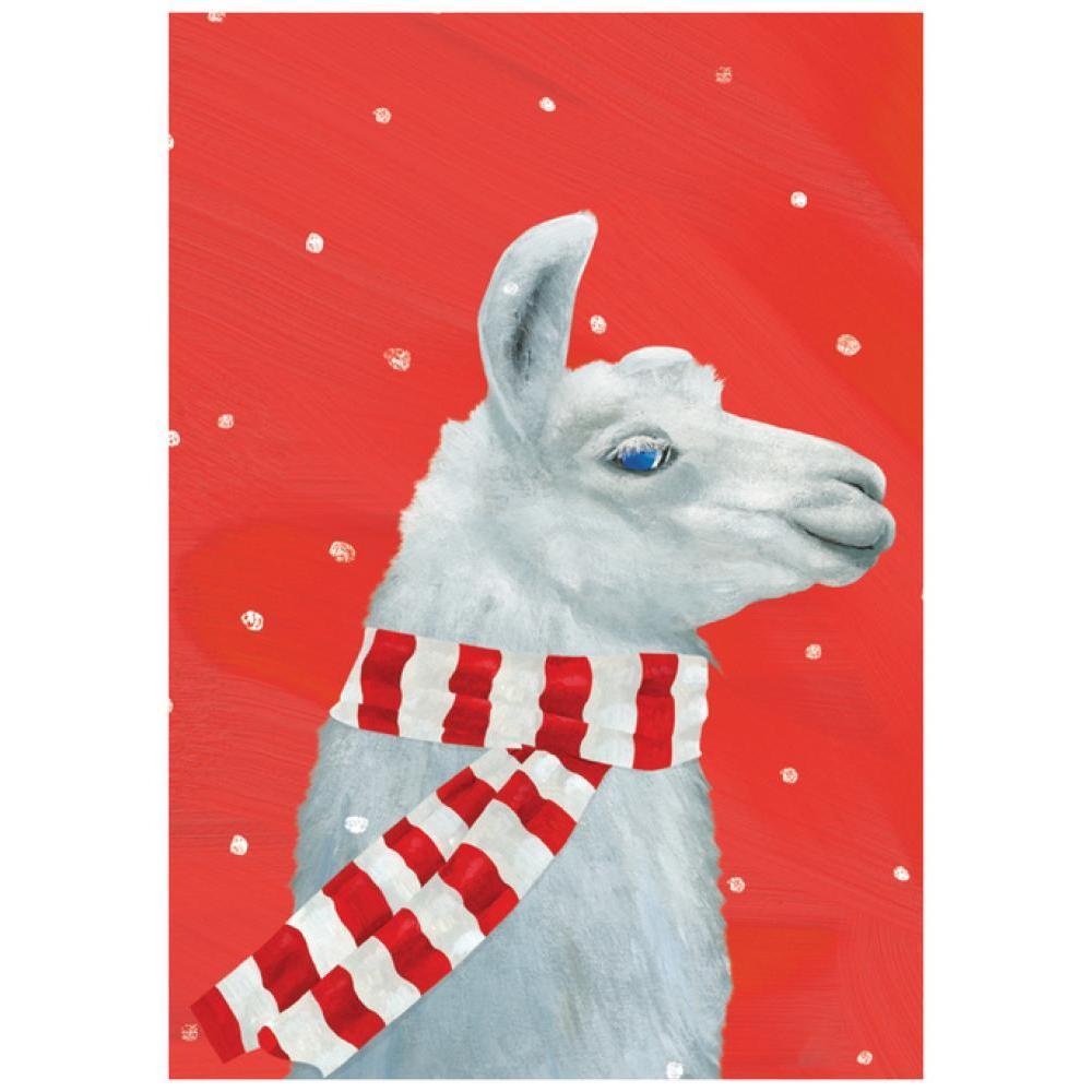 Boxed Holiday Card - Llama