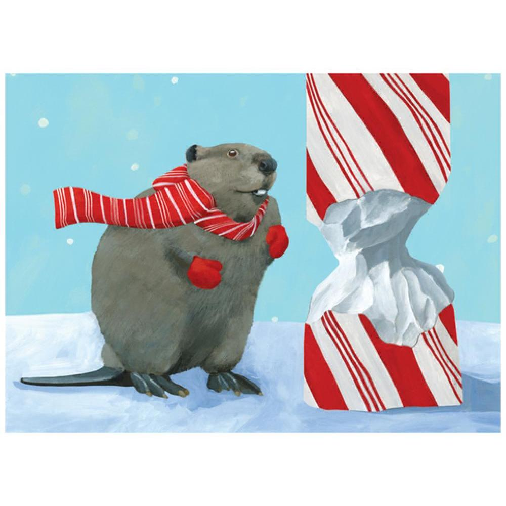 Boxed Holiday Card- Beaver