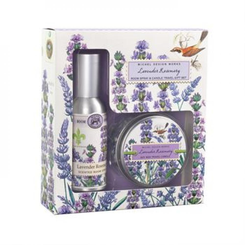 Travel Gift Set - Room Spray and Candle Lavender Rosemary