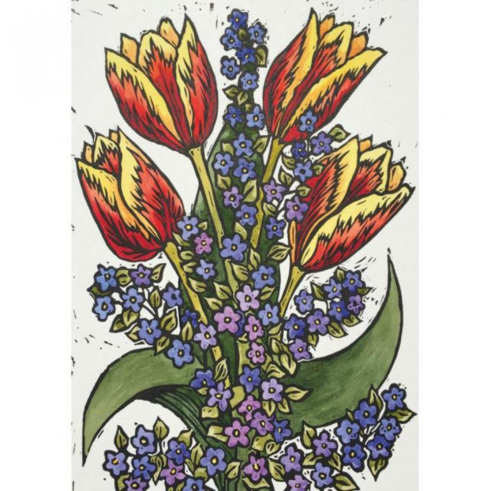 Any Occasion - Katharaine Green - Forget Me Nots and Tulips