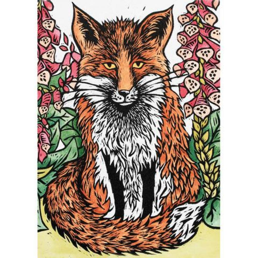 Any Occasion - Katharine Green - A Fox amongst the foxglvoes