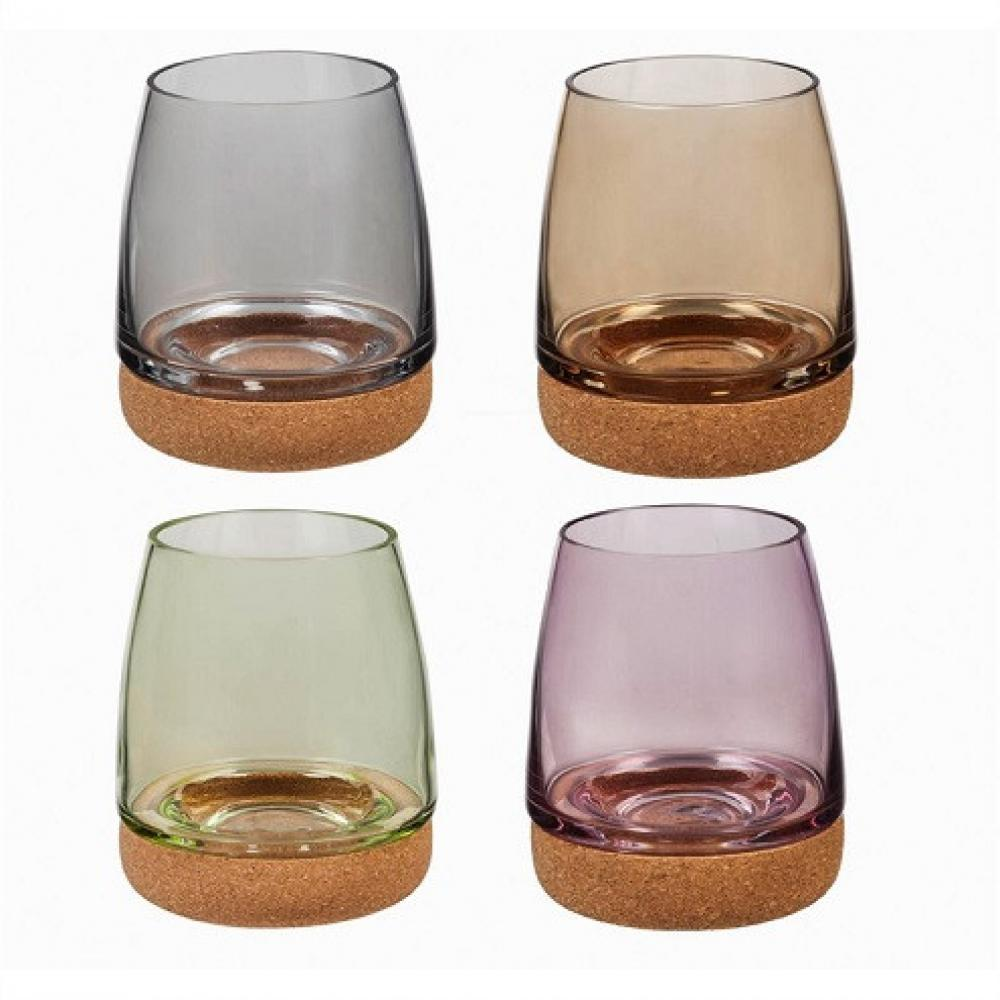 Drinkware - Wineglass Stemless Cork Bottom 14oz s/4 -5.99ea