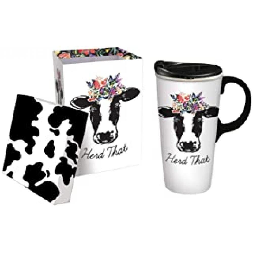 Drinkware - Travel Cup Ceramic Tritan Lid 17oz Herd That