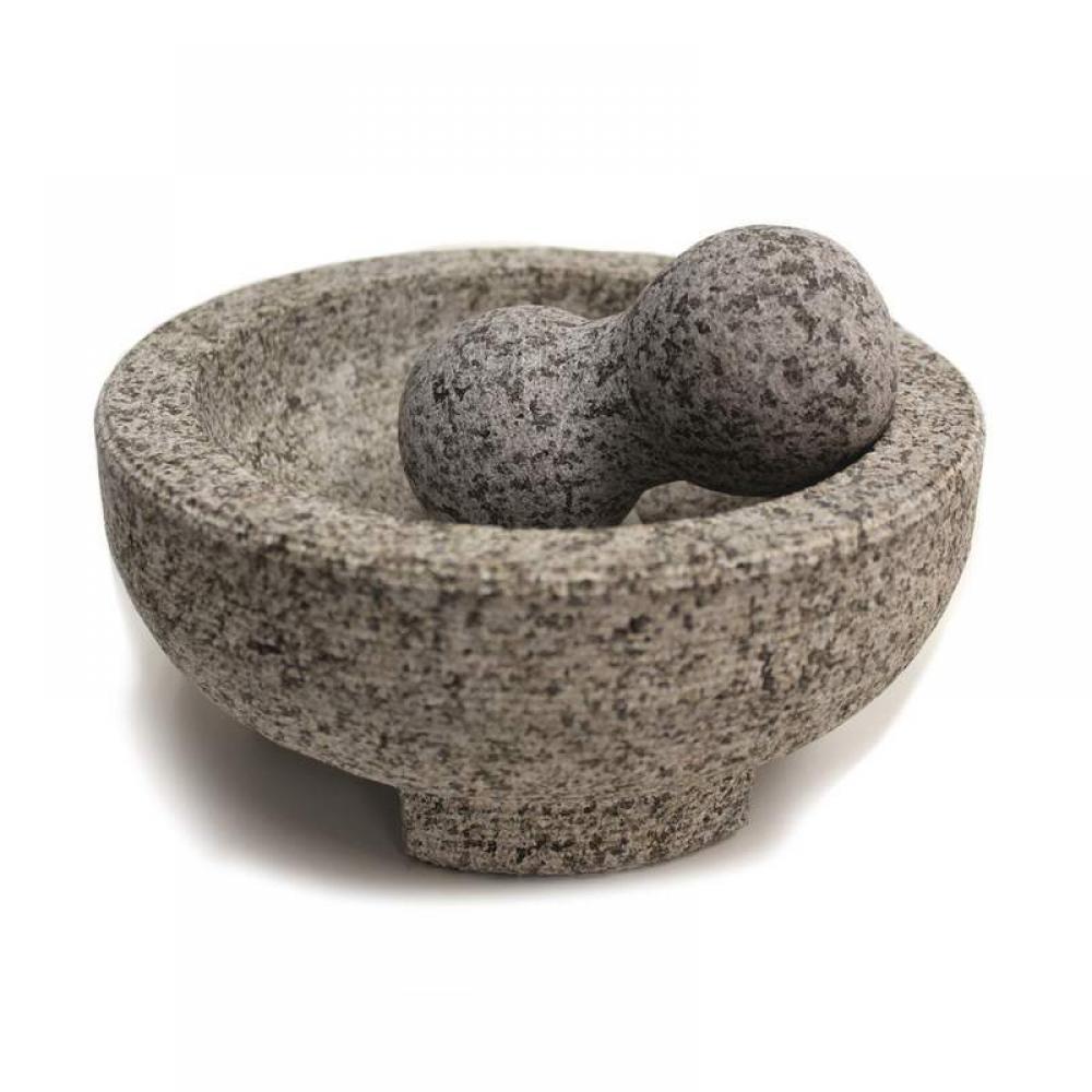 Mortar and Pestle Granite Molcajete 8in