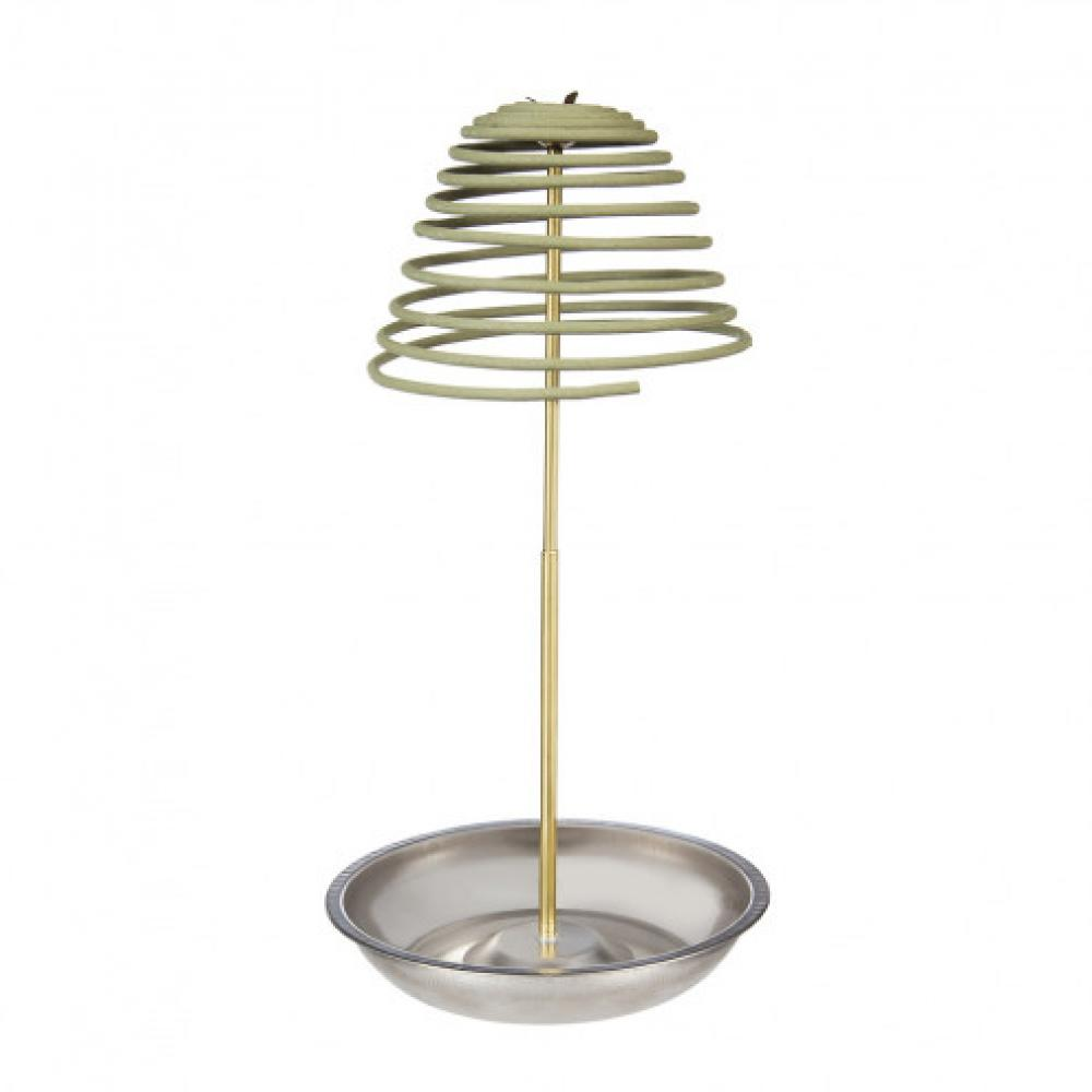 Citronella ZFence 5in Diameter Spiral with Metal Stand Green