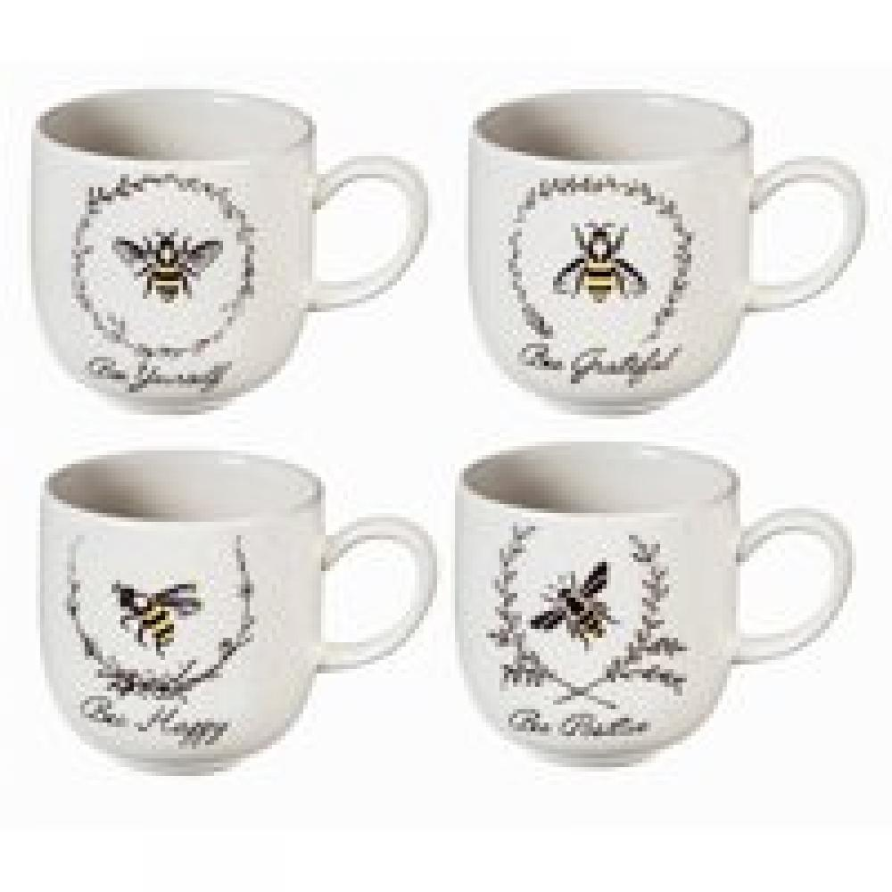 Drinkware Cup Ceramic 12 oz Bee Sayings 4 Asst