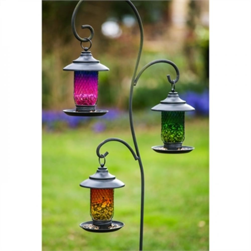 Birdfeeder Glass & Metal 3 Asst