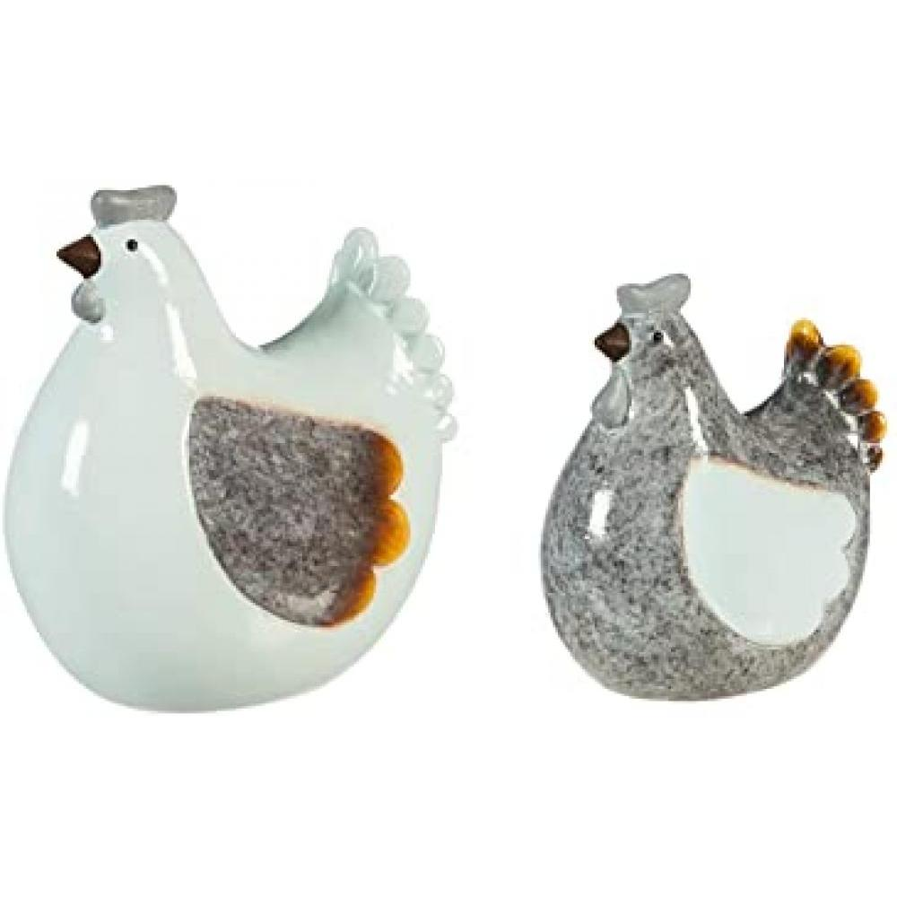 Table Decoration - Ceramic Chicken Set of 2