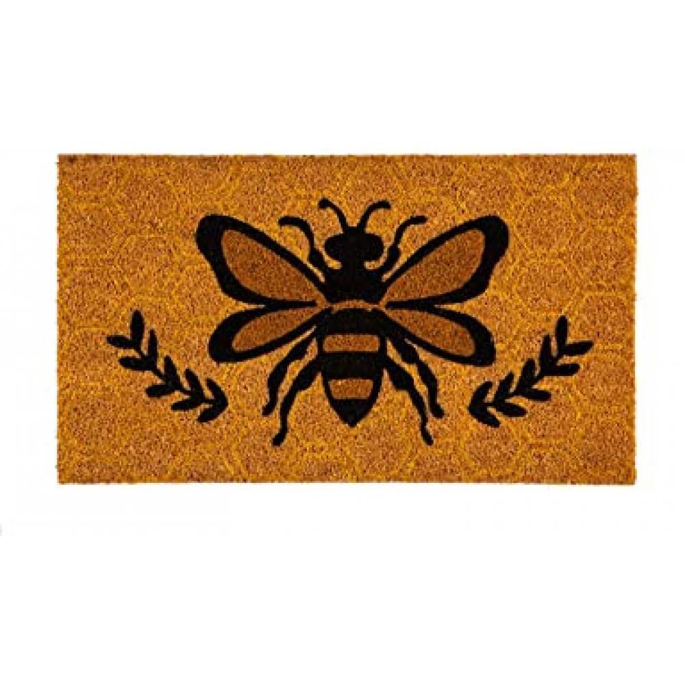 Doormat Coir Honeycomb Bee