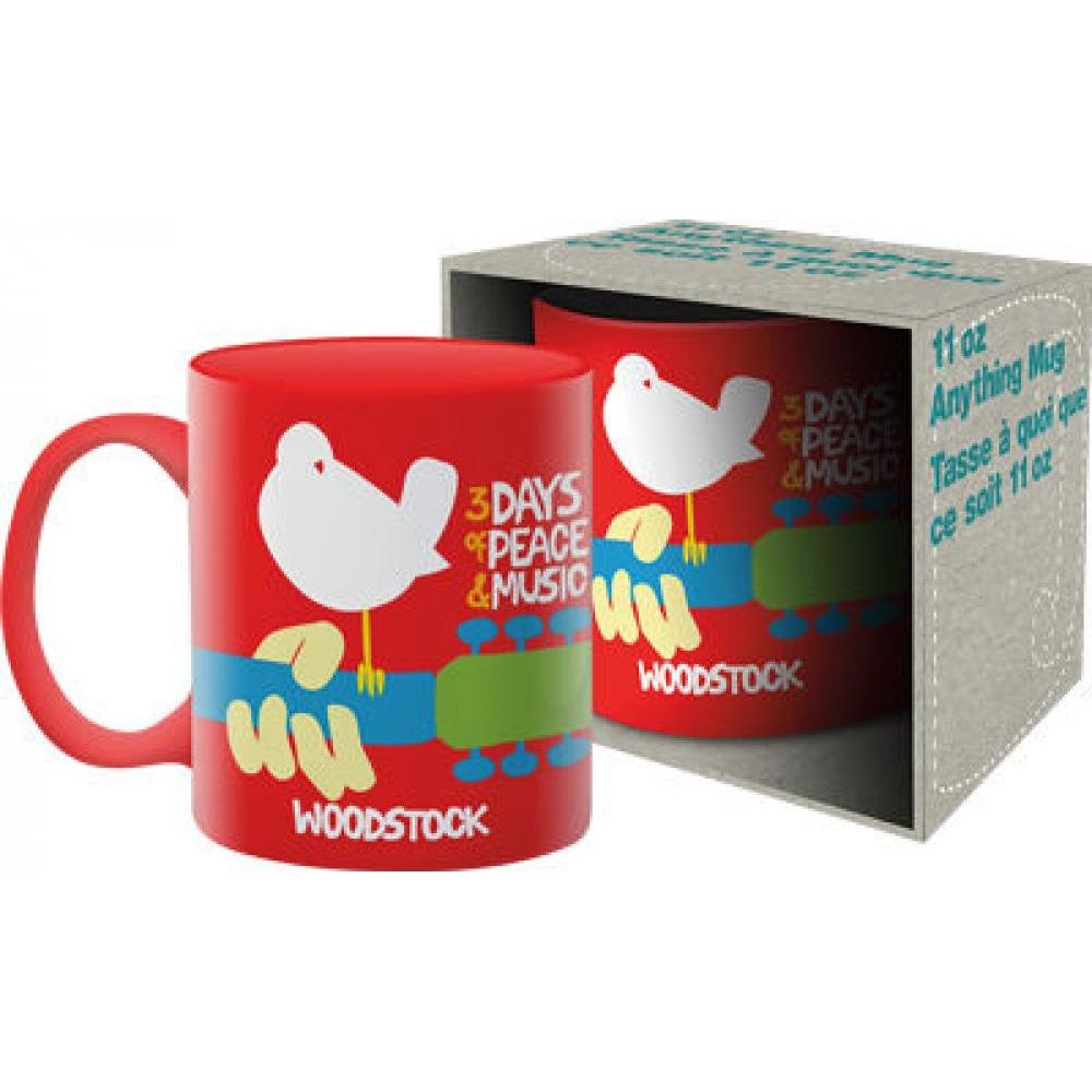 11oz Boxed Mug Woodstock Red