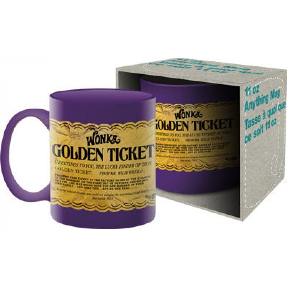 11oz Boxed Mug Willy Wonka Golden Ticket