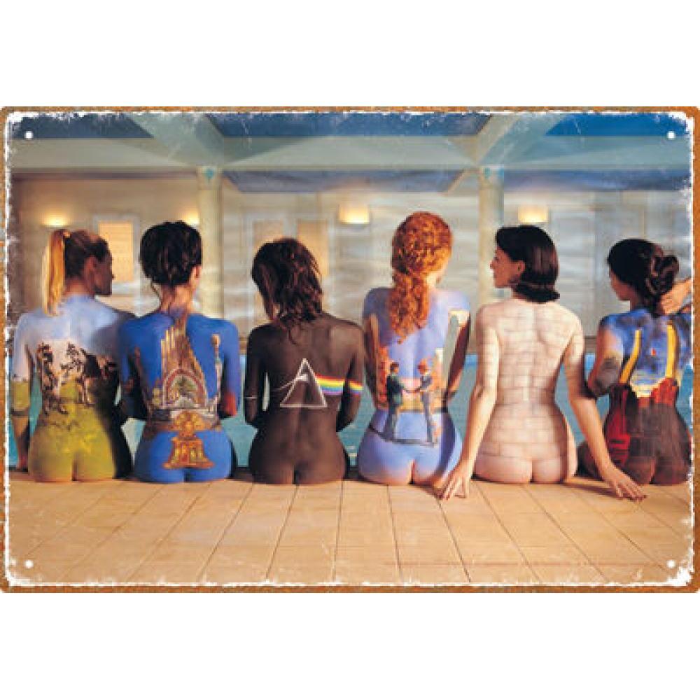 Tin Sign Pink Floyd Back Art