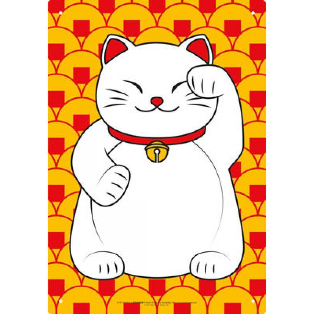 Tin Sign Lucky Cat