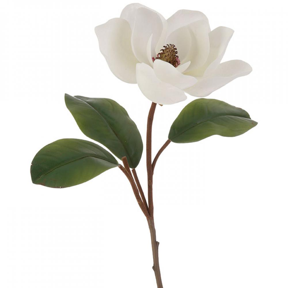 Decor - Magnolia Flower and Stem 32in