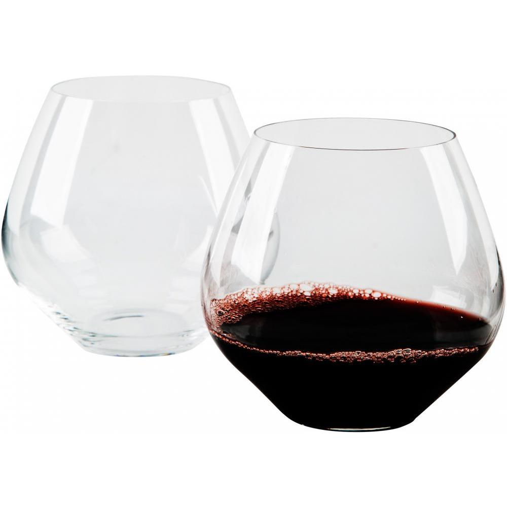 Stemless Glasses 19 Oz Set of 2 Bohemia Amarosa