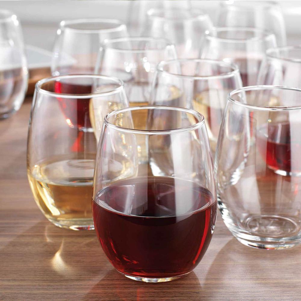 Stemless Glasses 15 Oz Set of 12 Invite