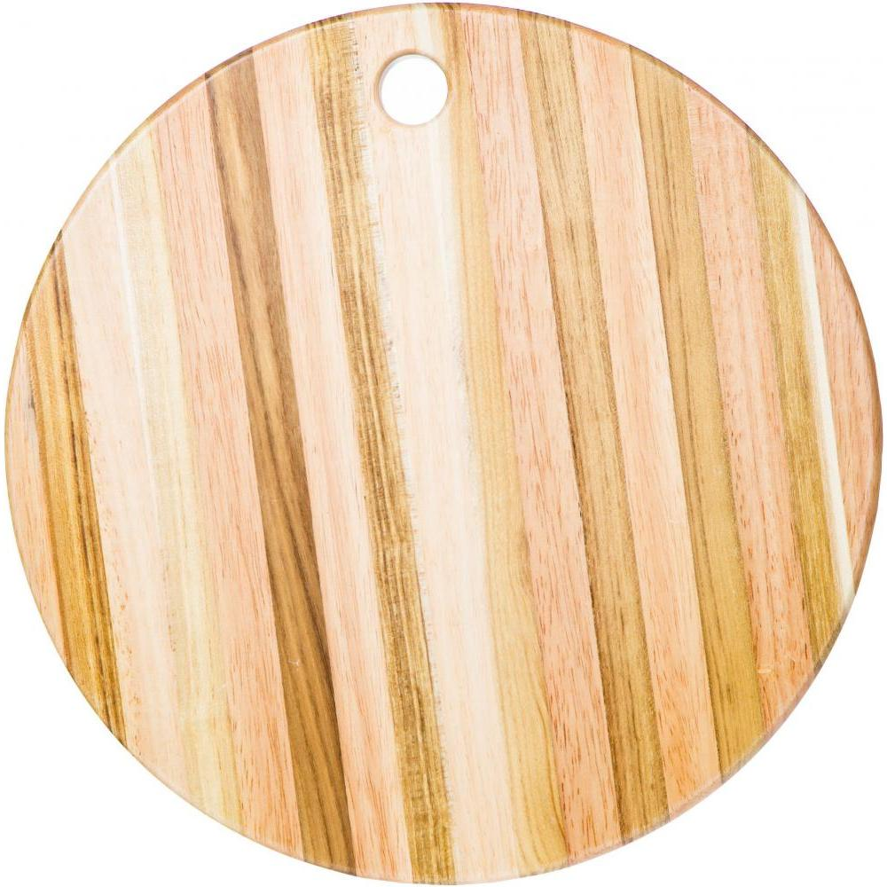 Cutting Board Round Teak 13in Diameter