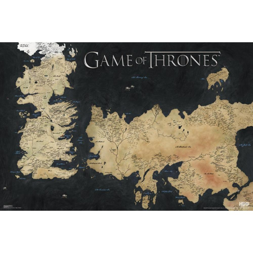Game of Thrones: Map of Westeros 24inx36in Poster