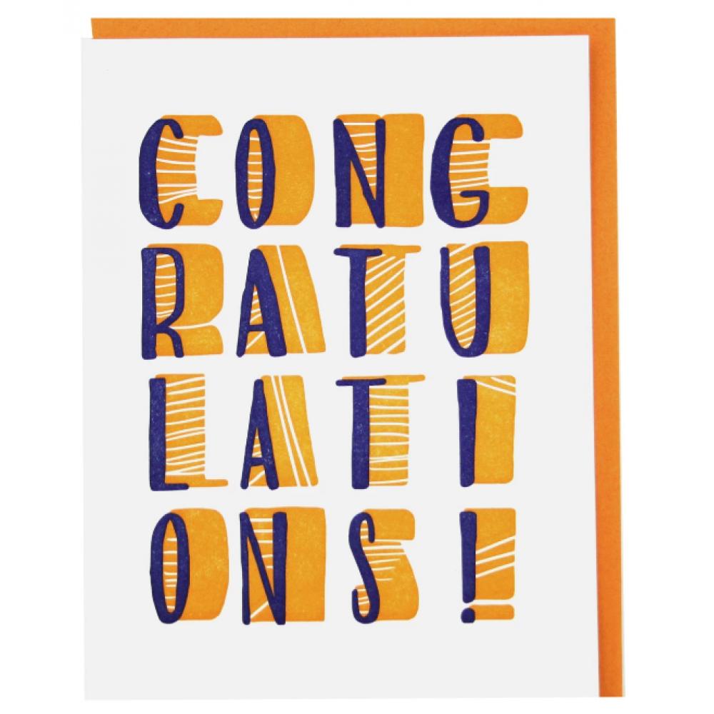 Congratulations - Stacked Congratulations