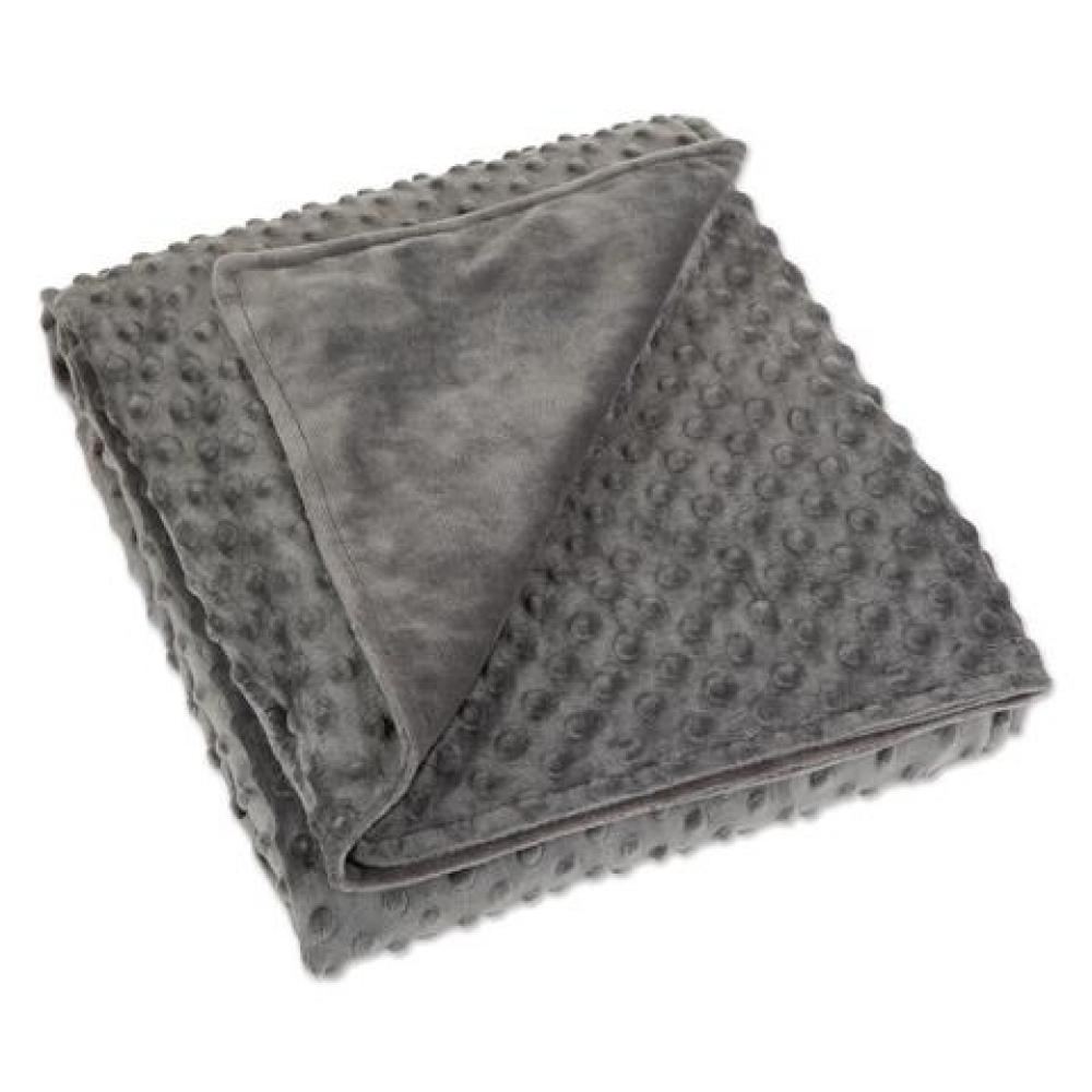 Blanket Cover Gray Minky Dot 60x80in