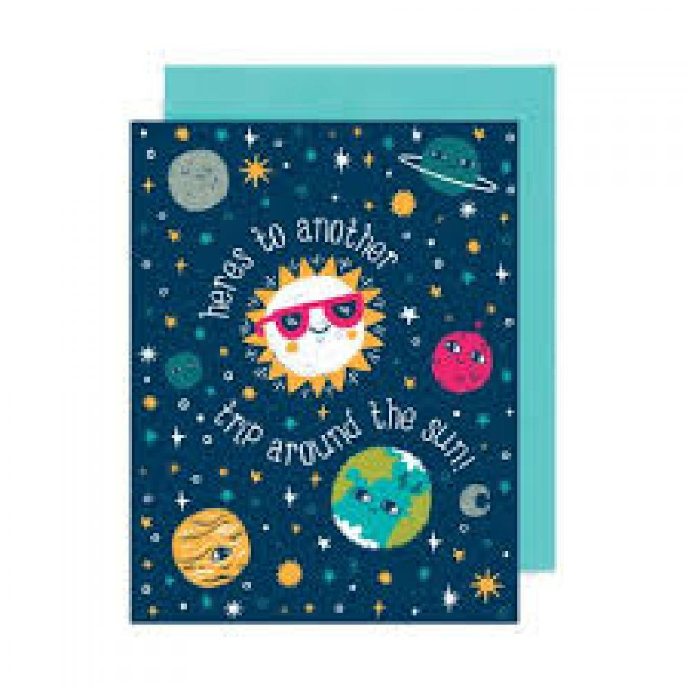 Birthday Card - Around the Sun