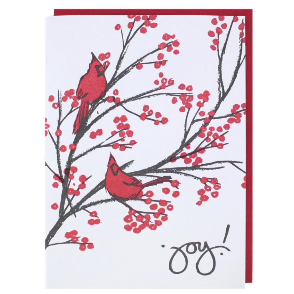 Boxed Card - Holiday - Cardinals