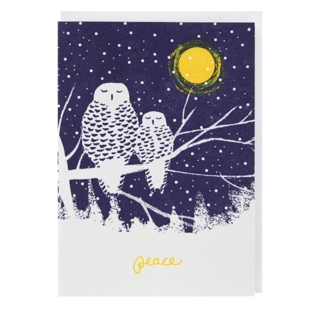 Boxed Card - Christmas - Peaceful Owls