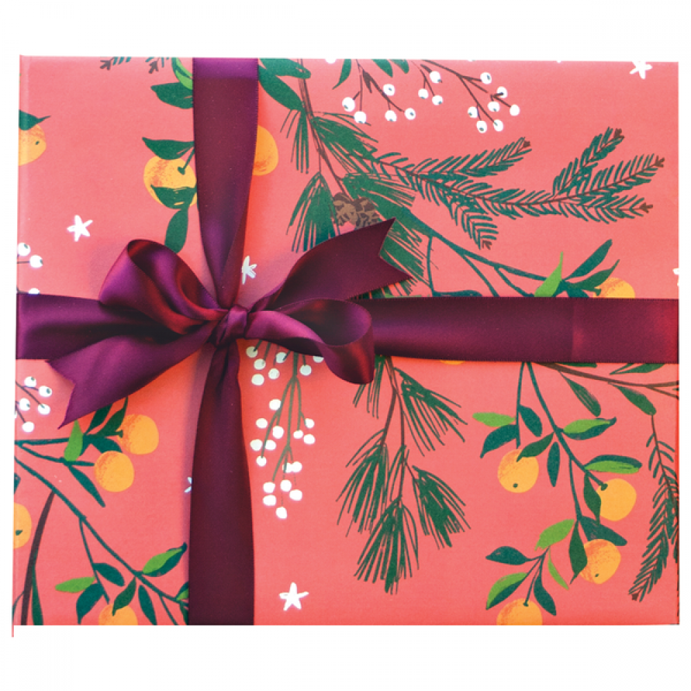 Gift Wrap - Christmas - Clementines and Botanical