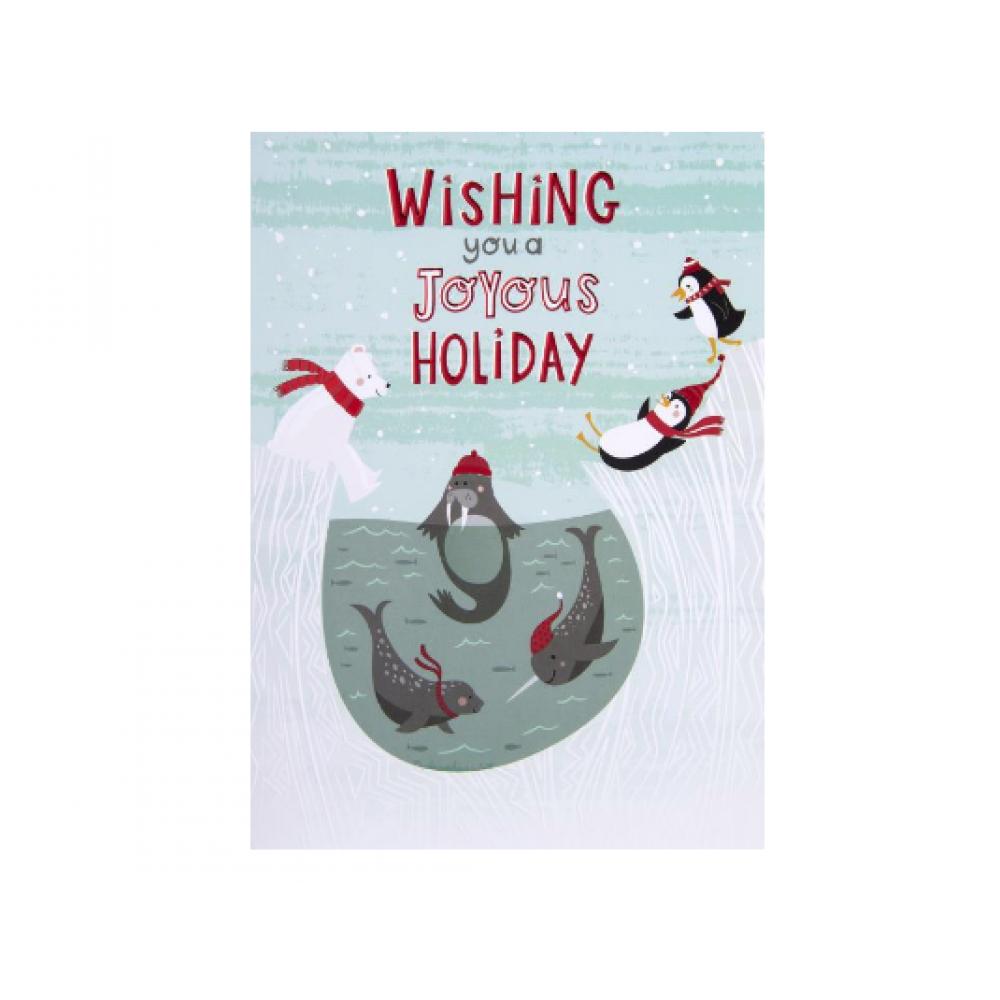 Christmas - Joyous Holiday Arctic Animals