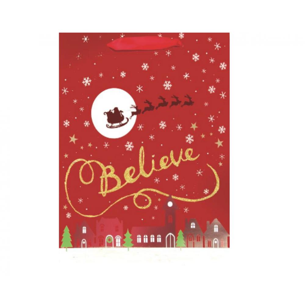 Gift Bag - Believe Silhouette Medium