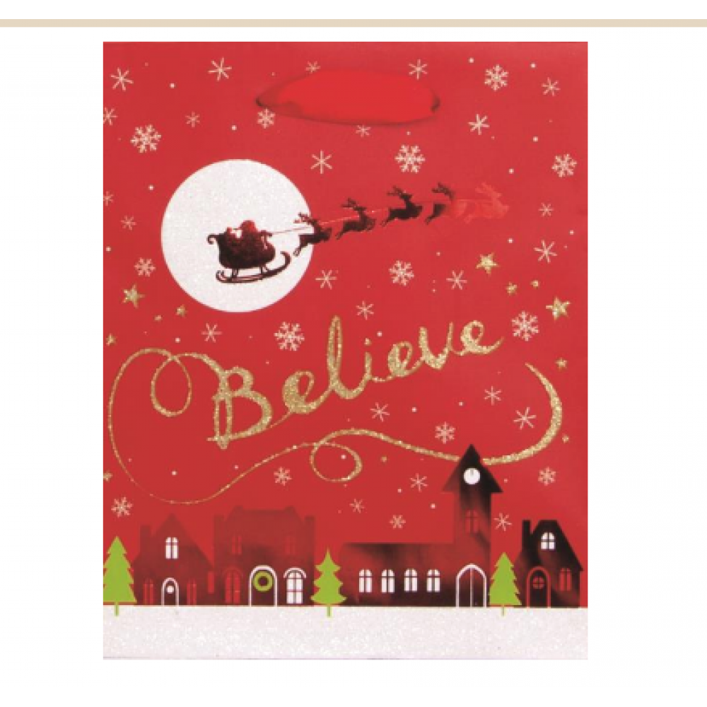 Gift Bag - Believe Silhouette Small