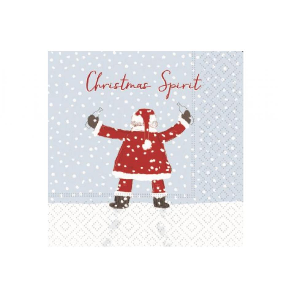 Napkin - Beverage - Christmas Spirit Santa