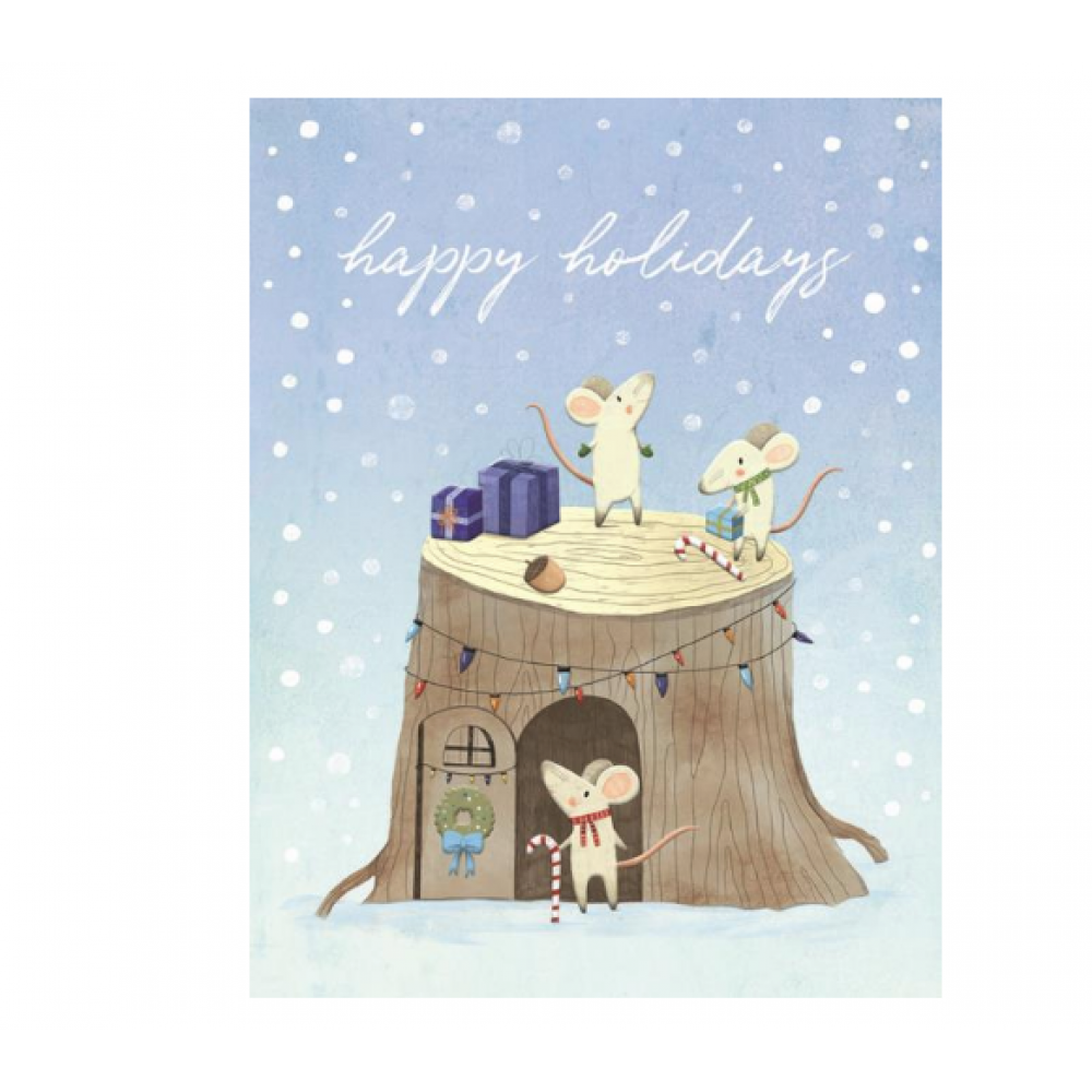 Boxed Card - Christmas - Mouse Tree House