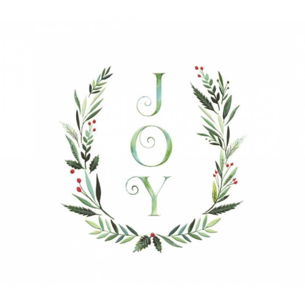 Boxed Card - Christmas - Joy Holly Wreath Card