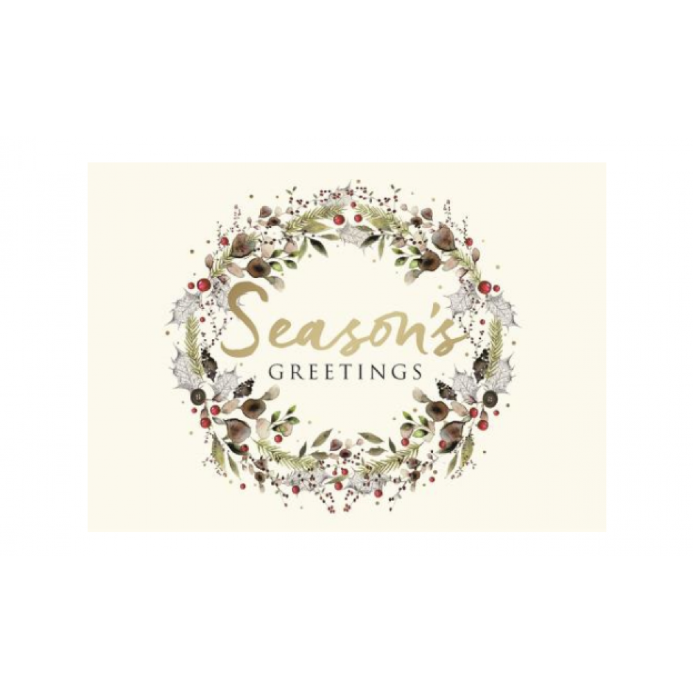 Boxed Card - Christmas - Beautiful Seasonal Wreath