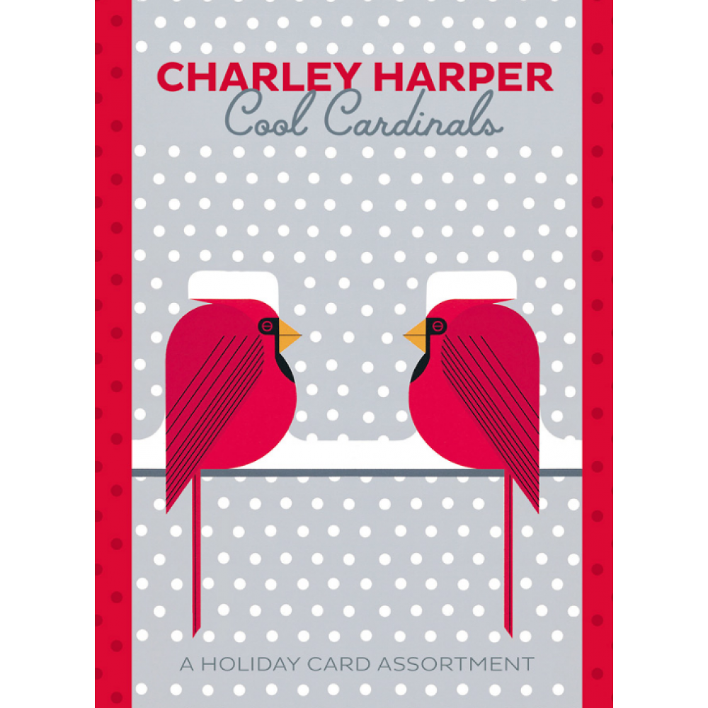 Boxed Card - Christmas - Charley Harper - Cool Cardinals Asst.