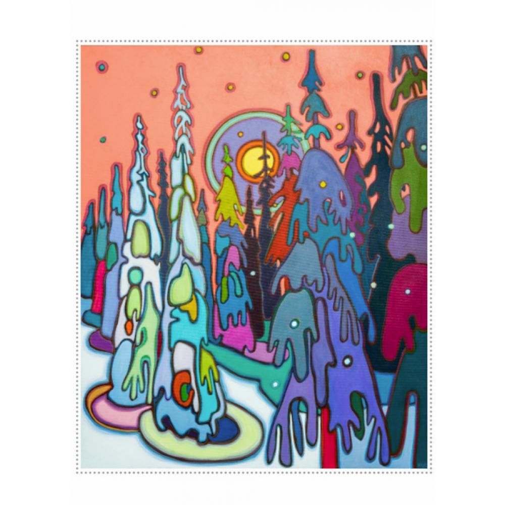 Boxed Card - Christmas - Darlene Kulig - Snow Ghosts